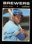 1971 Topps #493  Dave May  Front Thumbnail