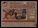 1958 Topps #34  Bob Thurman  Back Thumbnail