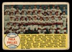 1958 Topps #134   Phillies Team Checklist Front Thumbnail