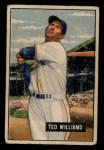 1951 Bowman #165  Ted Williams  Front Thumbnail
