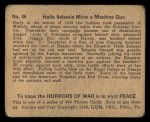 1938 Gum Inc. Horrors of War #46   Haile Selassie Mans Machine Gun Back Thumbnail