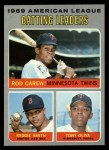 1970 Topps #62   -  Rod Carew / Tony Oliva / Reggie Smith AL Batting Leaders Front Thumbnail