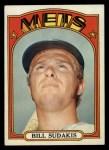 1972 Topps #722  Bill Sudakis  Front Thumbnail