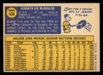 1970 Topps #420  Ken McMullen  Back Thumbnail