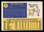 1970 Topps #192  Jim Qualls  Back Thumbnail