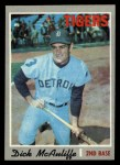 1970 Topps #475  Dick McAuliffe  Front Thumbnail