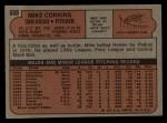 1972 Topps #608  Mike Corkins  Back Thumbnail