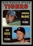 1970 Topps #207   -  Norman McRae / Bob Reed Tigers Rookies Front Thumbnail