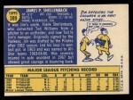 1970 Topps #389 ^COR^ Jim Shellenback  Back Thumbnail