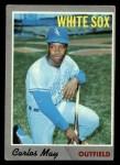 1970 Topps #18  Carlos May  Front Thumbnail