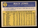 1970 Topps #38  Mack Jones  Back Thumbnail