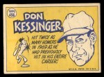 1970 Topps #456   -  Don Kessinger All-Star Back Thumbnail