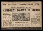 1954 Topps Scoop #135   Flood Kills Hundreds Back Thumbnail