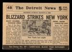 1954 Topps Scoop #48   Blizzard Sweeps New York Back Thumbnail
