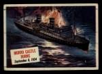 1954 Topps Scoop #63   Morro Castle Burns  Front Thumbnail