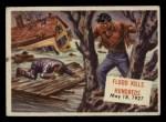 1954 Topps Scoop #135   Flood Kills Hundreds Front Thumbnail