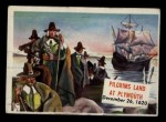 1954 Topps Scoop #104   Pilgrims Land At Plymouth Front Thumbnail