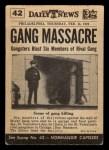 1954 Topps Scoop #42   Massacre In Chicago  Back Thumbnail