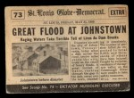 1954 Topps Scoop #73   Johnstown Flooded Back Thumbnail