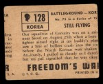 1950 Topps Freedoms War #128   Still Flying  Back Thumbnail