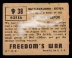 1950 Topps Freedoms War #38   Strange Weapon   Back Thumbnail