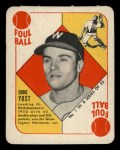 1951 Topps Blue Back #1  Eddie Yost  Front Thumbnail