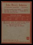 1965 Philadelphia #147  Joe Henry Johnson  Back Thumbnail