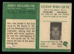 1966 Philadelphia #123  Jerry Hillebrand  Back Thumbnail