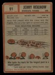 1962 Topps #91  Jerry Reichow  Back Thumbnail