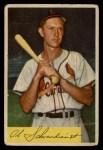1954 Bowman #110  Red Schoendienst  Front Thumbnail