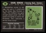 1969 Topps #86  Earl Gros  Back Thumbnail