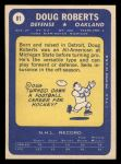 1969 Topps #81  Doug Roberts  Back Thumbnail
