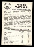 1960 Leaf #44  Tony Taylor  Back Thumbnail