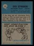 1964 Philadelphia #11  Dick Szymanski  Back Thumbnail