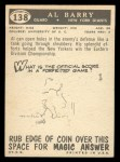 1959 Topps #138  Al Barry  Back Thumbnail