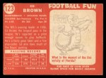 1958 Topps #123  Ed Brown  Back Thumbnail