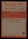1965 Philadelphia #151  Clarence Peaks   Back Thumbnail