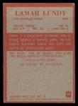 1965 Philadelphia #90  Lamar Lundy   Back Thumbnail