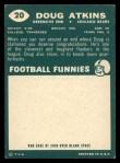 1960 Topps #20  Doug Atkins  Back Thumbnail