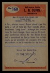 1955 Bowman #160  Louis Dupre  Back Thumbnail