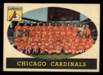 1958 Topps #69   Cardinals Team Front Thumbnail