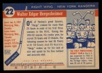 1954 Topps #22  Wally Hergesheimer  Back Thumbnail