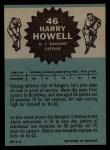 1962 Topps #46  Harry Howell  Back Thumbnail