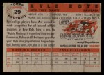 1956 Topps #29  Kyle Rote  Back Thumbnail