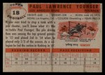 1956 Topps #18  Paul Younger  Back Thumbnail