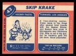 1968 Topps #43  Skip Krake  Back Thumbnail