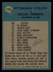 1964 Philadelphia #154   -  Buddy Parker    Pittsburgh Steelers Back Thumbnail