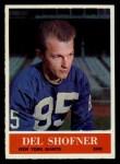 1964 Philadelphia #123  Del Shofner  Front Thumbnail