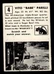 1951 Topps #4  Babe Parilli  Back Thumbnail
