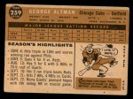 1960 Topps #259  George Altman  Back Thumbnail